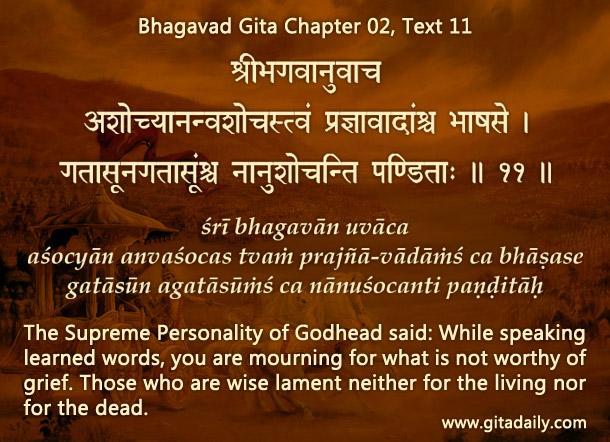 Bhagavad Gita Chapter 02, Text 11