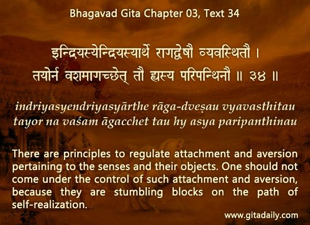 Bhagavad Gita Chapter 03 Text 34