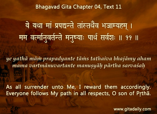 Bhagavad Gita Chapter 04 Text 11