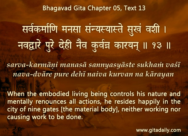 Bhagavad Gita Chapter05 Text 13