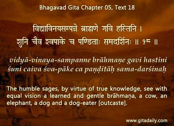Bhagavad Gita Chapter 05 Text 18