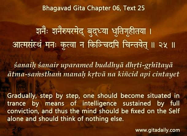 Bhagavad Gita Chapter 06 Text 25
