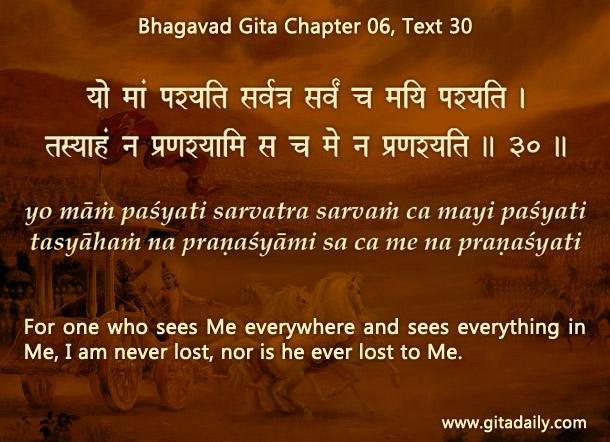 Bhagavad Gita Chapter 06 Text 30