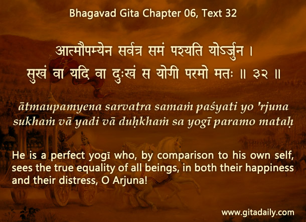 Bhagavad Gita Chapter 06, Text 32