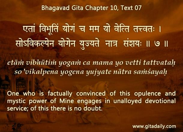 Bhagavad Gita Chapter 10 Text 07