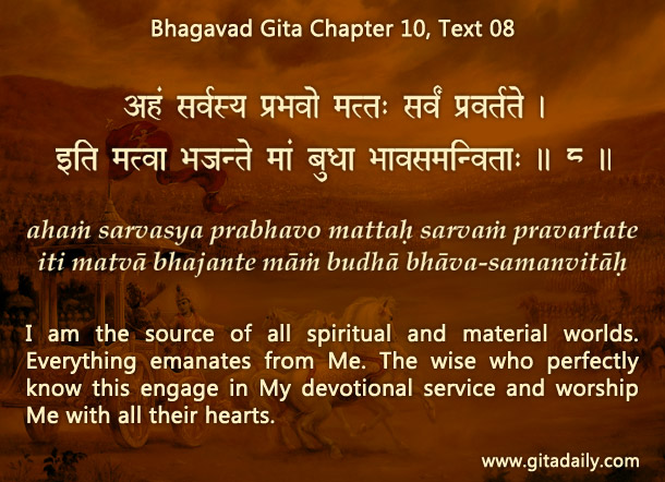 Bhagavad Gita Chapter 10 Text 08