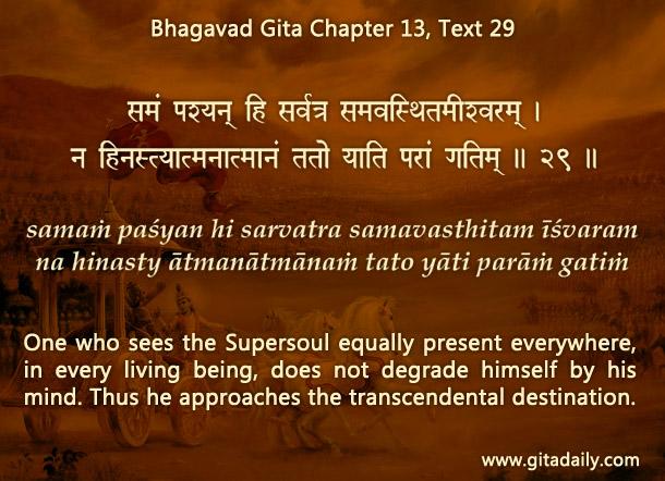 Bhagavad Gita Chapter 13 Text 29