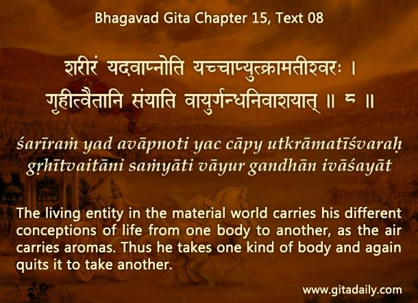 Bhagavad Gita Chapter 15 Text 08
