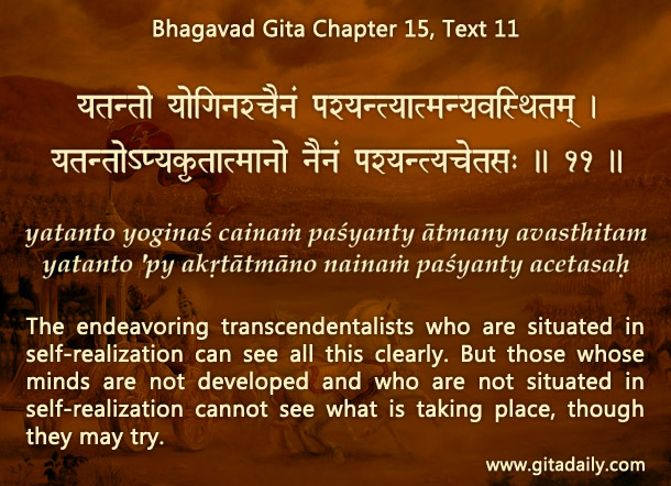 Bhagavad Gita Chapter 15 Text 11