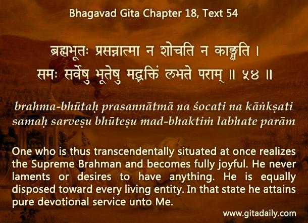 Bhagavad Gita Chapter 18 Text 54