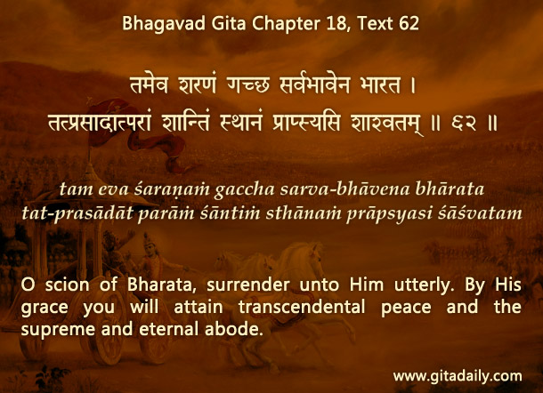 Bhagavad Gita Chapter 18 Text 62