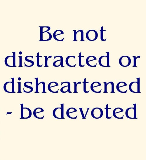 Image result for distracted to devoted