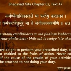A Bhagavad-gita approach to new year resolutions