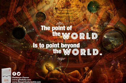 The point of the world is to point beyond the world