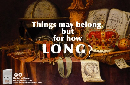 Things may belong, but for how long?