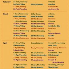 Upcoming Schedule of Chaitanya Charan