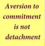 Aversion to commitment is not detachment